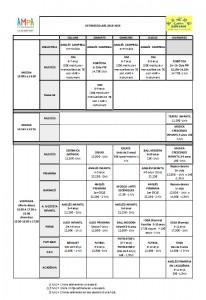 Extraescolars 2018-19 horari