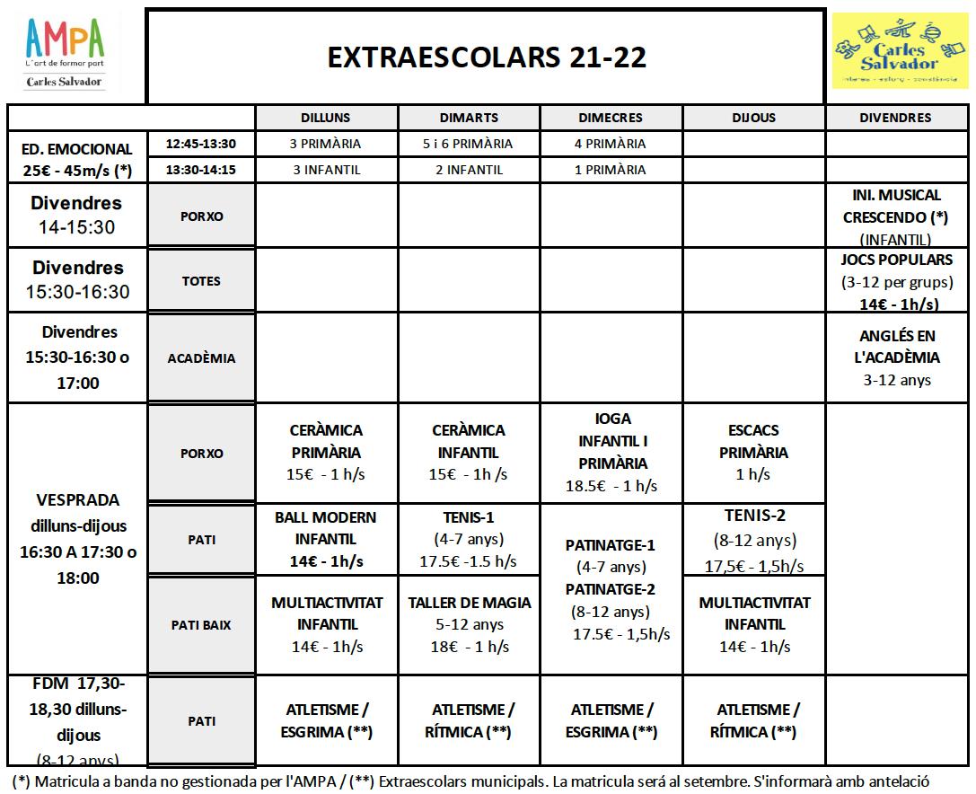 horari-extraescolars-21-22-setembre