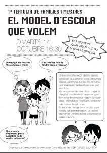 Tertulia familias-maestros