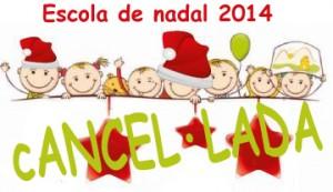 2014-12-05_Escola_Nadal cancelada