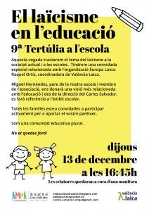 9 tertulia-El Laicisme en l'educacio